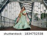 Pakistani Indian Bride Wearing...