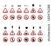 set of prohibition signs.... | Shutterstock .eps vector #183476288