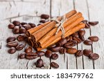 stack of cinnamon sticks and... | Shutterstock . vector #183479762