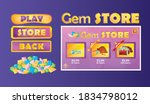 purple gem store game concept