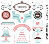 vintage collection of vector...   Shutterstock .eps vector #183480176