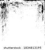 scratched frame. grunge urban... | Shutterstock .eps vector #1834813195