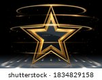 gold star shape with light...   Shutterstock .eps vector #1834829158