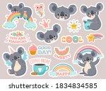 magic koala stickers. lazy...   Shutterstock .eps vector #1834834585