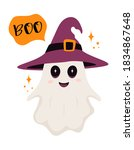 cute ghost illustration with... | Shutterstock .eps vector #1834867648