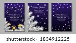 set of banners for merry... | Shutterstock .eps vector #1834912225