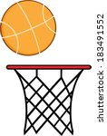 abstract basketball hoop with... | Shutterstock . vector #183491552