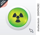 radiation sign icon. danger...