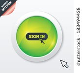 sign in with cursor pointer...