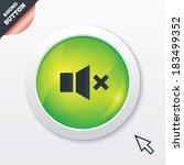 mute speaker sign icon. sound...