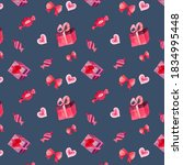 gifts  hearts  candies and... | Shutterstock . vector #1834995448