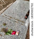 Small photo of Ernest Hemingway's Grave, Ketchum, Idaho, June 20, 2020