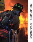 Closeup Of Firefighter On...