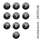 Keypad isolated, numbers vector - stock vector