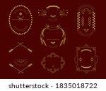 china frame label design...   Shutterstock .eps vector #1835018722