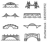 Bridge And Arch Icons And...