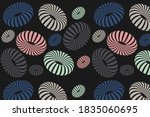 geometric vector background 3d... | Shutterstock .eps vector #1835060695