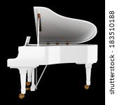White Grand Piano Isolated On...