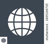 globe related vector glyph icon.... | Shutterstock .eps vector #1835104735
