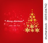 christmas card with star and... | Shutterstock . vector #1835106742