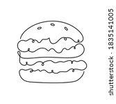 hamburger or burger  one...   Shutterstock .eps vector #1835141005