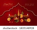 diwali festival banner.... | Shutterstock .eps vector #1835148928