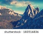 vintage picture. crimea high... | Shutterstock . vector #183516836