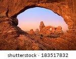 turret arch trough north window ... | Shutterstock . vector #183517832