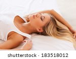 sweet dreams. top view of... | Shutterstock . vector #183518012