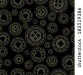 dark casino chips pattern.    Shutterstock .eps vector #183519386
