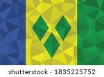low poly saint vincent and the... | Shutterstock .eps vector #1835225752