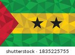 low poly sao tome and principe... | Shutterstock .eps vector #1835225755