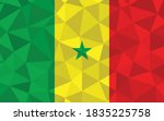 Low Poly Senegal Flag Vector...