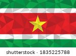 low poly suriname flag vector... | Shutterstock .eps vector #1835225788