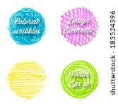 vector colored pencil design... | Shutterstock .eps vector #183524396