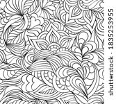 seamless pattern with hand...   Shutterstock .eps vector #1835253955