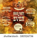 elements for summer holidays... | Shutterstock .eps vector #183526736