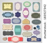 set retro vintage ribbons and... | Shutterstock .eps vector #183527342