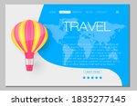 travel banner  beautiful  air... | Shutterstock .eps vector #1835277145