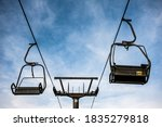 Chairlift In The Mountains In...