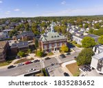 Small photo of Concord City Hall aerial view in downtown Concord, New Hampshire NH, USA.