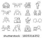 people talk  negotiation ... | Shutterstock .eps vector #1835316352