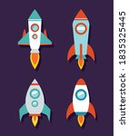 space rocket icon set of...   Shutterstock .eps vector #1835325445