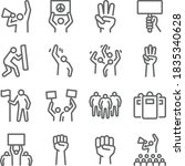 protest mob icon illustration...   Shutterstock .eps vector #1835340628