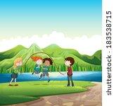 illustration of the kids... | Shutterstock . vector #183538715