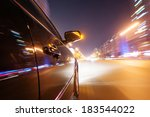 car on the road with motion... | Shutterstock . vector #183544022