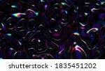 3d abstract iridescent wavy... | Shutterstock . vector #1835451202