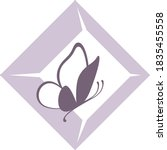 vector logo icon of butterfly...   Shutterstock .eps vector #1835455558