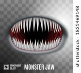 spooky monster jaw isolated on... | Shutterstock .eps vector #1835469148