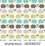 seamless elephant cartoon... | Shutterstock .eps vector #183548252